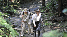 A Middle-Aged Couple Traveling with